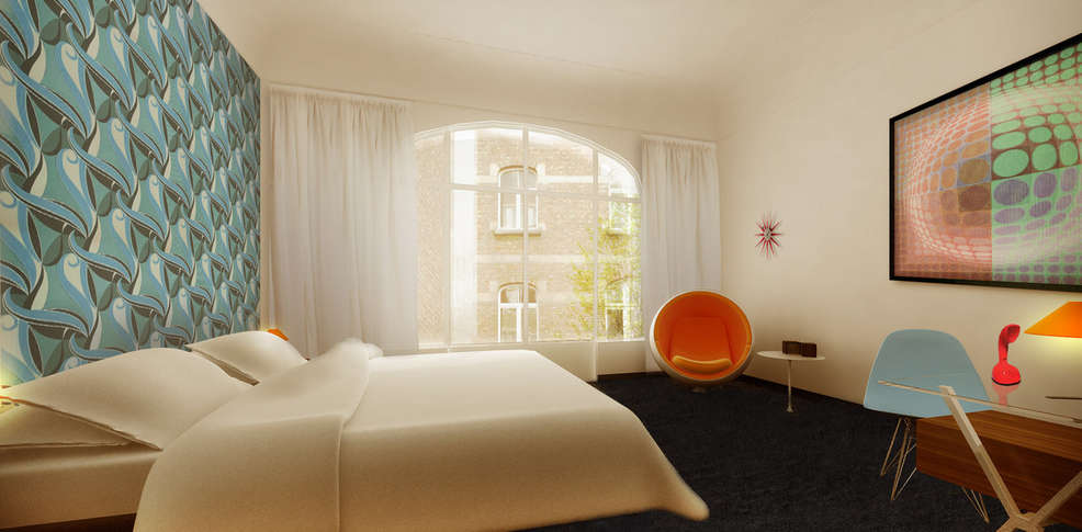 Vintage hotel charmehotel brussel - Chambre thema parijs ...