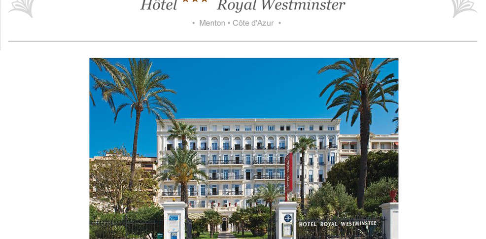 H tel vacances bleues royal westminster h tel de charme for Reservation hotel pas chere