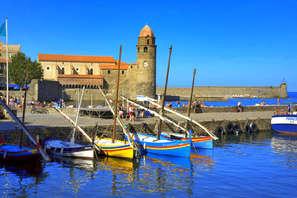 Séjour 2 nuits  dans un hôtel de charme en bord de mer à Collioure