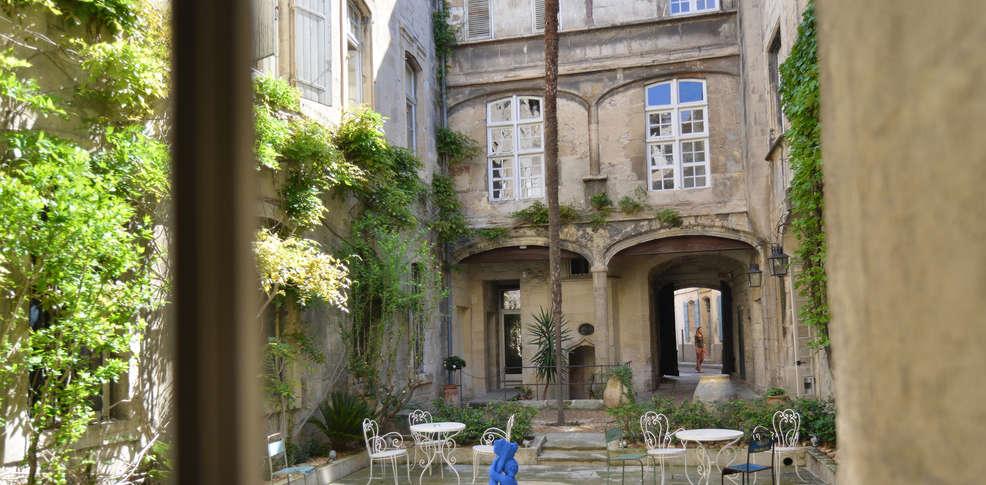 H tel d 39 arlatan h tel de charme arles - Hotel porte de camargue arles provence ...