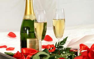 Offre spéciale Saint-Valentin : Week-end romantique avec bouteille de champagne en chambre à Vannes