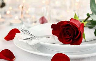 Offre spéciale Saint-Valentin : Séjour avec dîner gastronomique et romantique à 1h de Paris