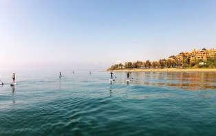 Escapada con actividad Paddle Surf en playa de Guadalmansa