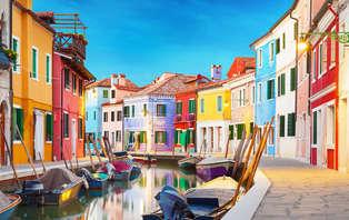 Balade en barque et promenade en vélo à Venise
