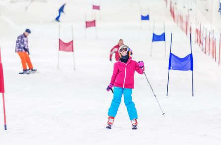 Dévalez les pistes enneigées du Skidôme en ski ou en snowboard près de Breda