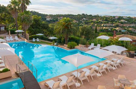 Kijk uit over de zonnige Franse Rivièra en relax