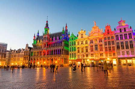 Touche romantique à Bruxelles