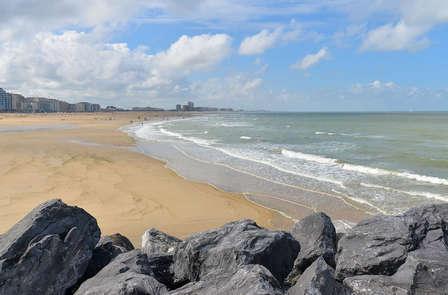 Uitwaaien aan de Belgische kust in Oostende