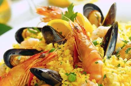 Noche romántica con paella de marisco en Sanxenxo