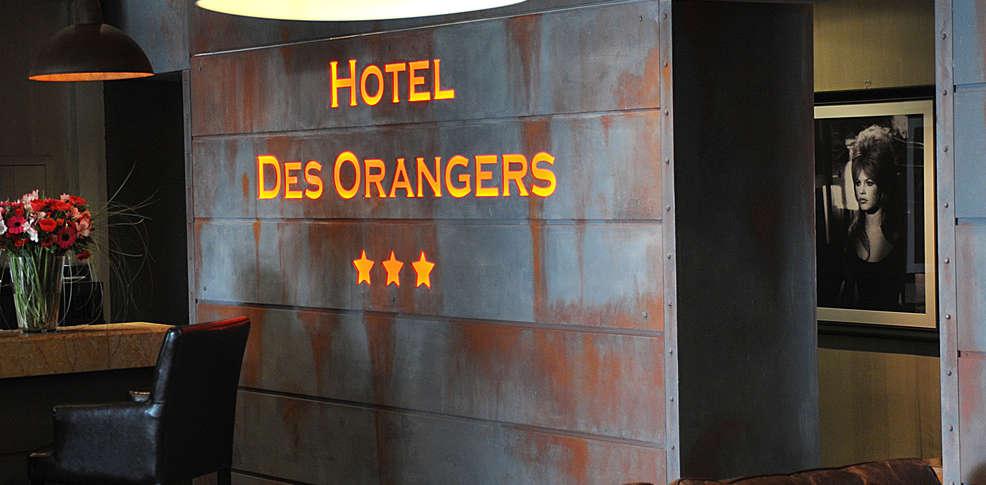 H tel des orangers h tel de charme cannes for Reservation hotel paca