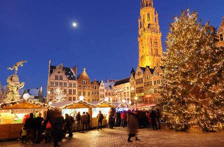 Hiver chaleureux au marché de Noël d'Anvers (à partir de 2 nuits)