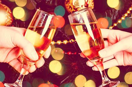 Eindejaarsfeesten met champagne nabij het historische centrum van Rouen