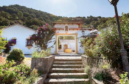 Hacienda romántica con cena en el precioso pueblo de Gaucín