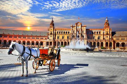 Experiencia Andaluza: Espéctaculo de Flamenco, paseo a Caballo por Doñana ¡Olé Sevilla!