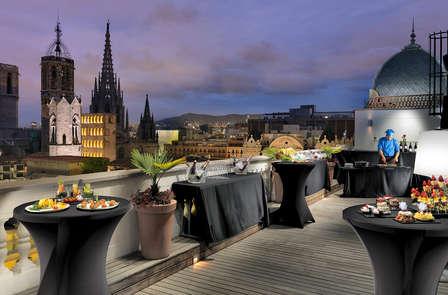 A Barcellona in un hotel nel centro storico