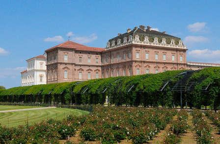 Nel centro storico della Venaria Reale vicino a Torino