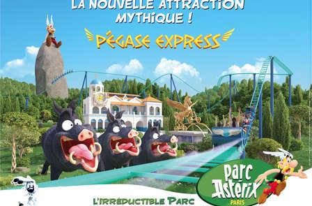 Minivakantie in Oise met kaartjes voor Parc Astérix