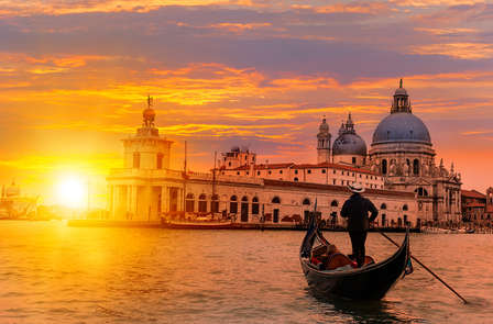 Coucher de soleil romantique sur les toits de Venise en exécutive (non remboursable)
