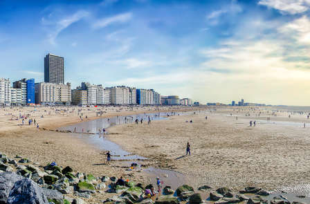 Brezza marina sulla costa belga