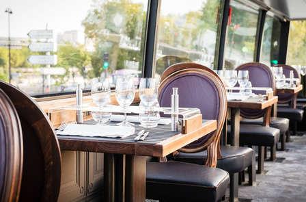 Week-end 4* avec dîner gastronomique à bord d'un bus à Paris