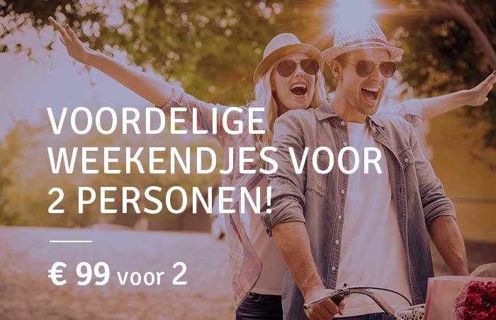 Voordelige weekendjes voor 2 personen!