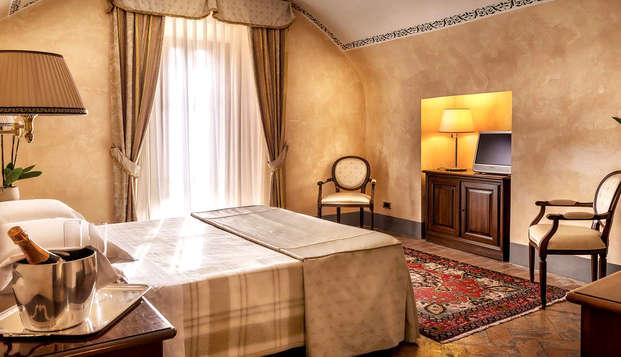 Nuit romantique en Suite Junior dans la belle région italienne de Latium