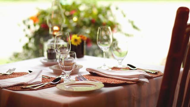Week-end de charme avec dîner à proximité de Vareilles