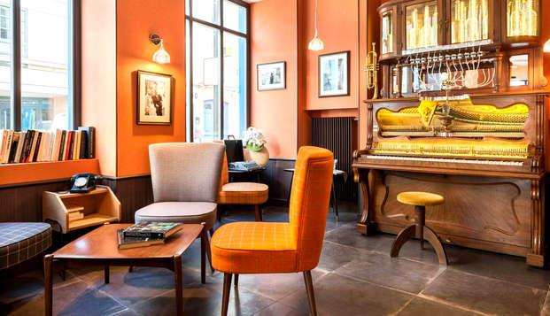Chambre supérieure et atmosphère jazzy aux portes de Paris