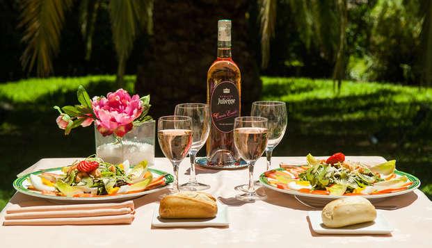 Escapada con cena en una suite junior en la bahía de Cannes