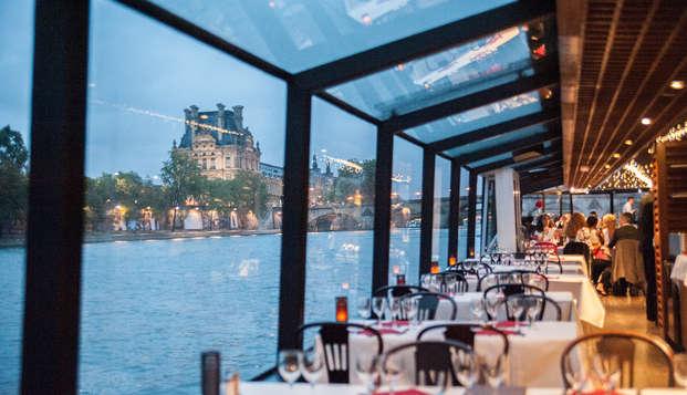 Sorprende en San Valentín con una cena crucero por el Sena