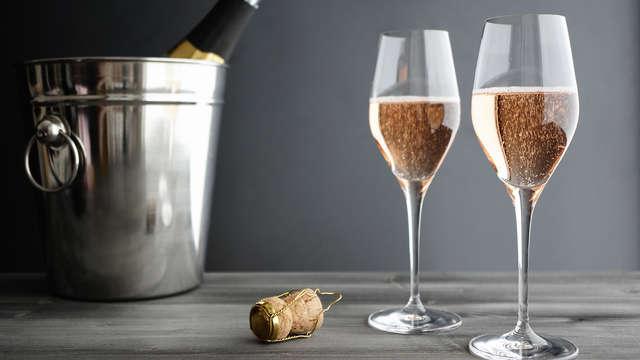 Romantisme avec champagne, bien-être et dîner à Bruxelles