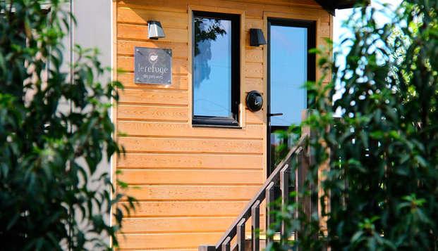 Week-end bien-être dans une cabane perchée avec son spa privatif près de Beaune