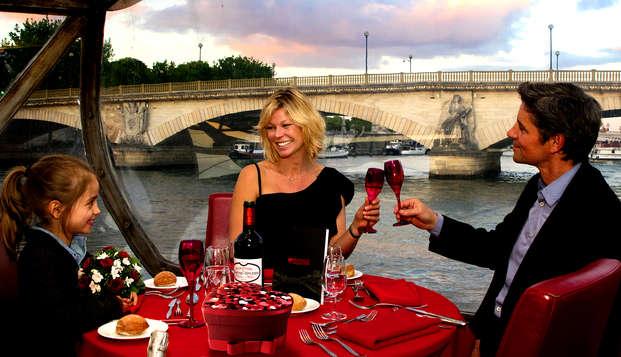Découvrez le charme de Paris avec un déjeuner en croisière