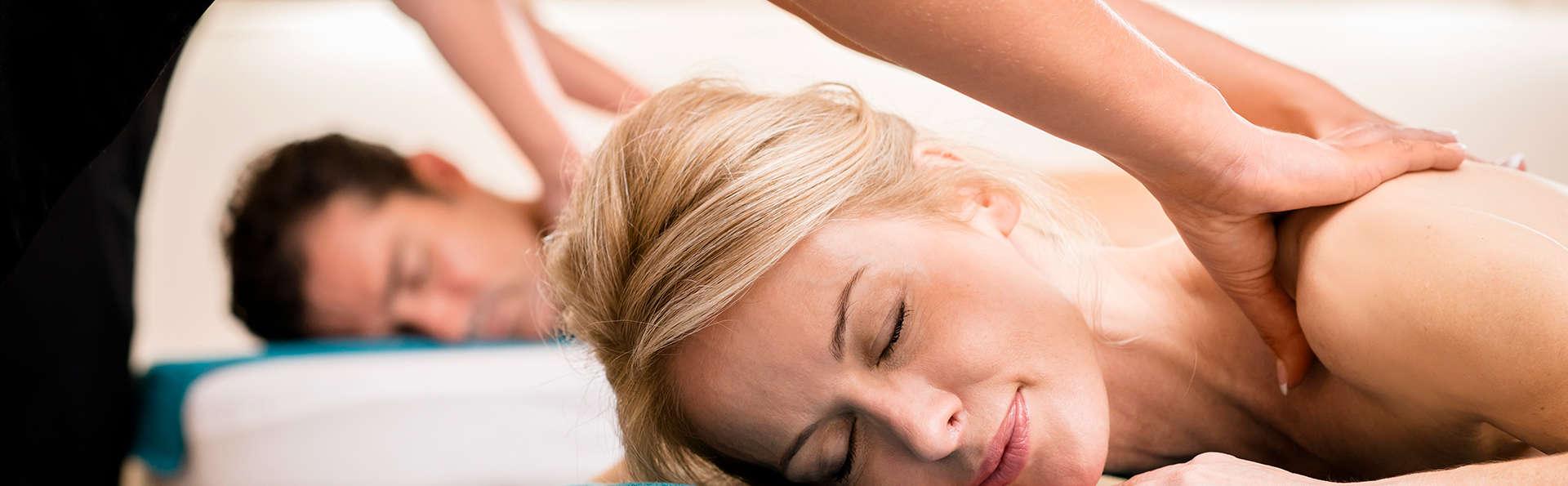 Moment détente avec massage et petit-déjeuner avec bulles