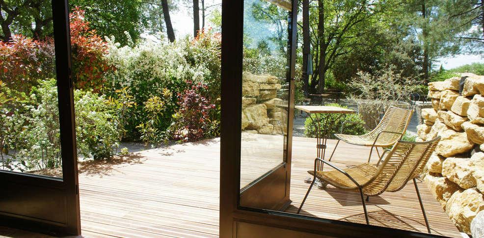 H tel des pins restaurant l 39 esprit jardin 3 bedoin - Jardin tecina booking ...