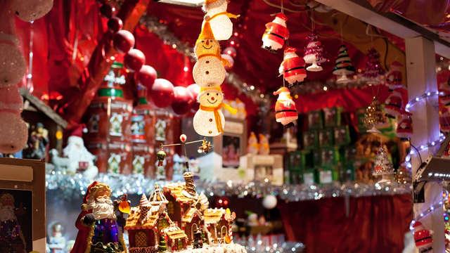 Kerstsfeer in prachtig landhuis en op de kerstmarkt in Maredsous