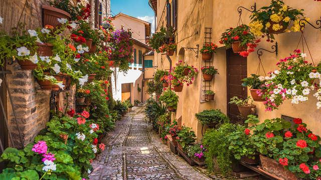 Romantisme dans un château, au coeur de la nature de l'Ombrie
