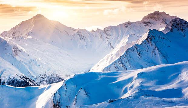 Paysage de montagne au pied des Alpes, à Val Cenis