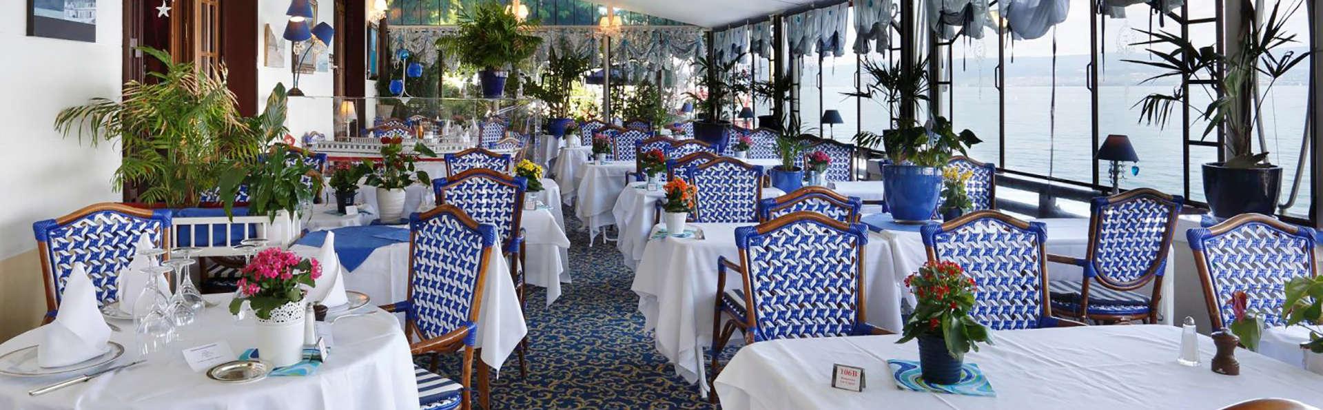 Escapade gourmande et chambre avec vue sur le lac, à Evian-les-Bains