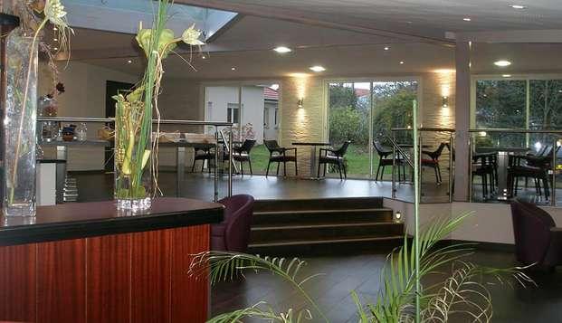 Hotel The Originals Montbeliard Sud Charme Hotel et Spa ex Inter-Hotel - Restaurant