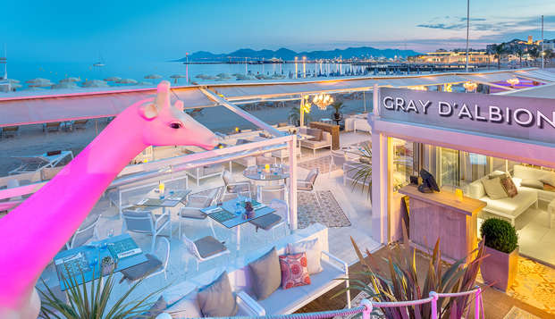 Hotel Barriere Le Gray d Albion Cannes - new front beach