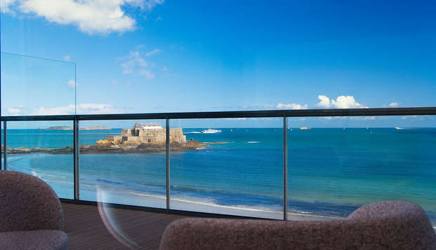 Week-end détente en chambre prestige face à la mer de Saint-Malo