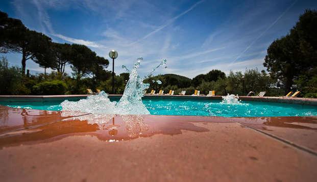 Week-end en famille dans le vert de Montepulciano avec séjour enfant gratuit