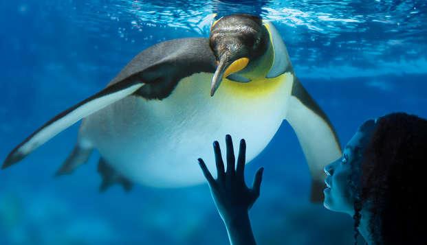 Familie uitje met toegang tot het aquarium Sea Life in de buurt van Disneyland Parijs