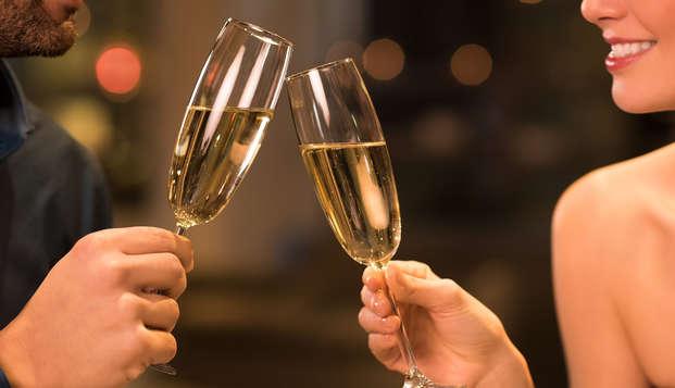 Uitgerust het nieuwe jaar in met een fles cava in Mons