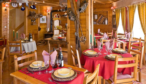 Escapade avec dîner dans un chalet près de Briançon