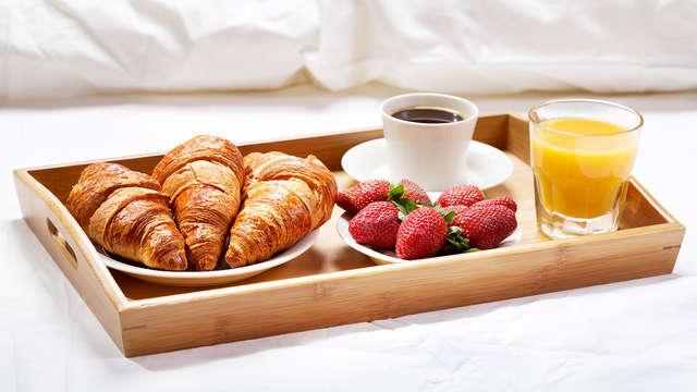 Desayuno servido en la habitación (día 1 y día 2)