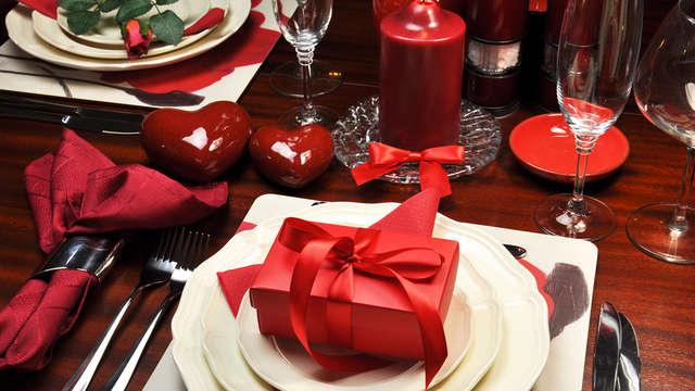 Dîner de la Saint-Valentin 4 plats pour 2 adultes