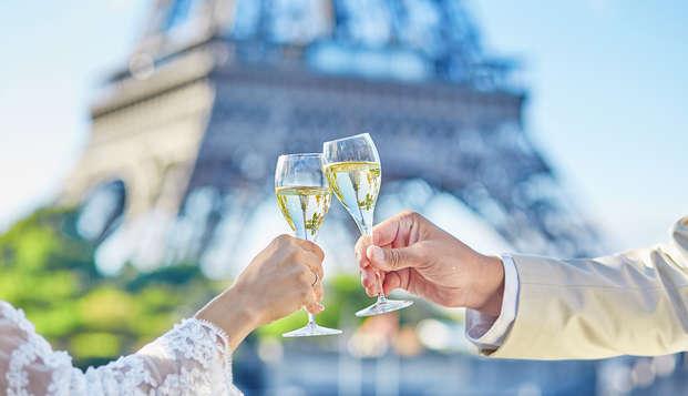 Saint-Valentin à Paris avec champagne et grasse matinée !