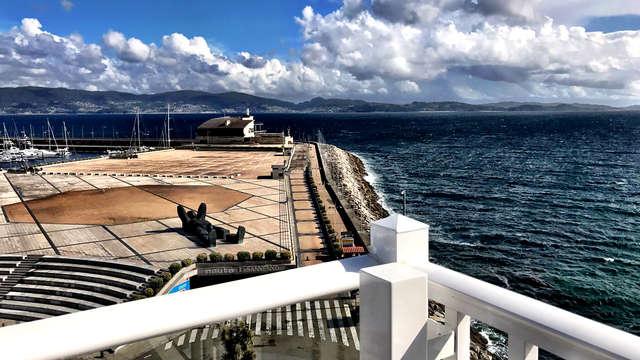 Escapada con vistas al Puerto de Sanxenxo con Cena y Visita al Pazo de Rubianes